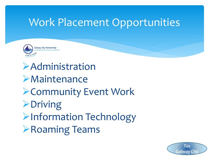 Work Placement Opportunities