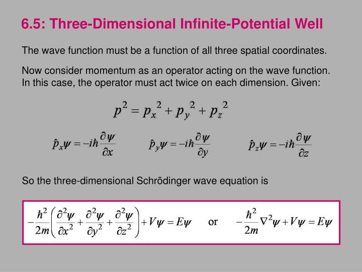 6.5: Three-Dimensional Infinite-Potential Well