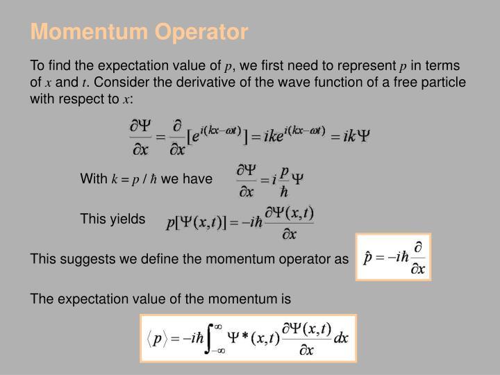 Momentum Operator