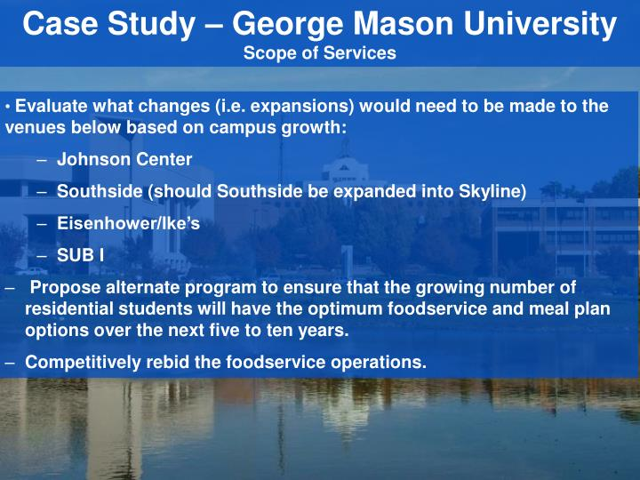 Case Study – George Mason University