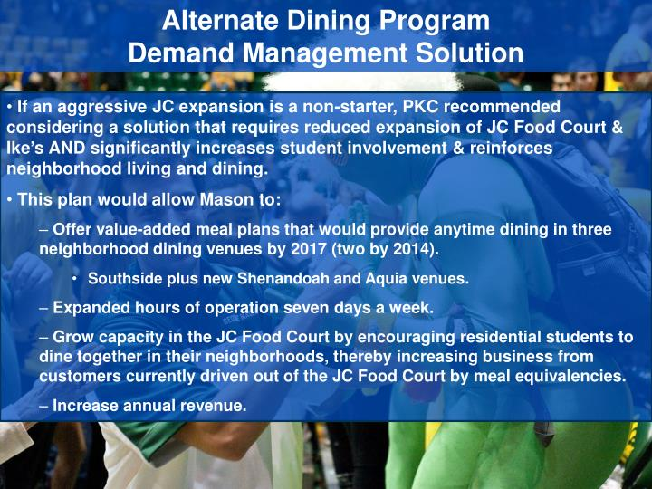 Alternate Dining Program