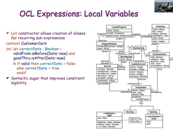 OCL Expressions: Local Variables