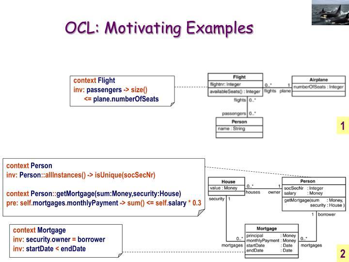 OCL: Motivating Examples
