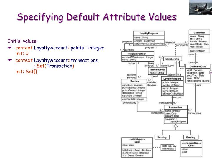 Specifying Default Attribute Values
