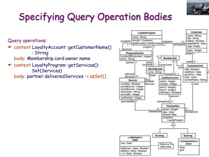 Specifying Query Operation Bodies