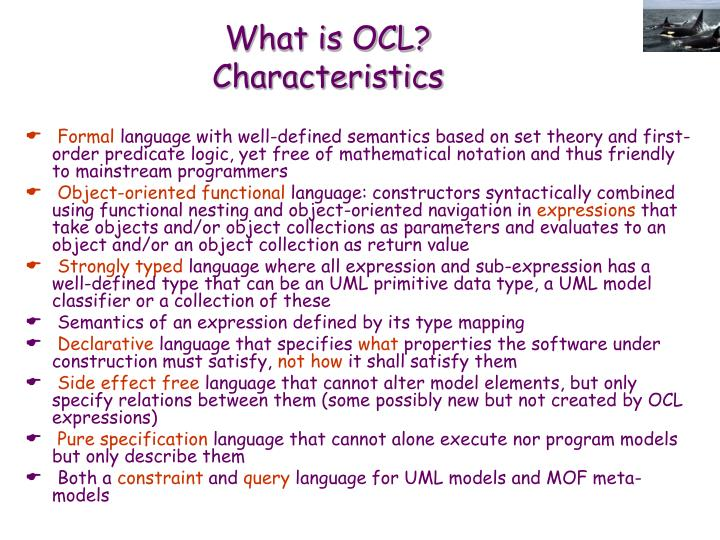 What is OCL?