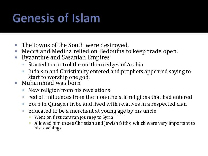 Genesis of Islam