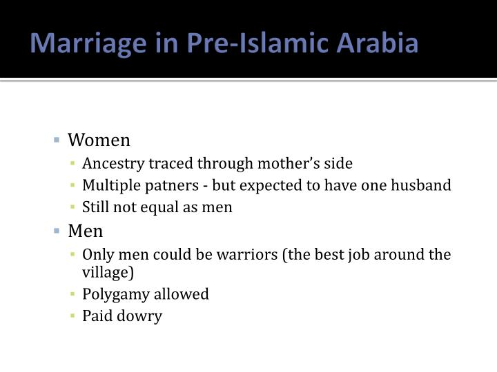 Marriage in Pre-Islamic Arabia