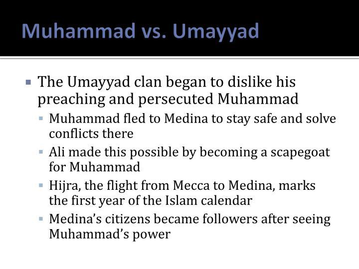 Muhammad vs. Umayyad