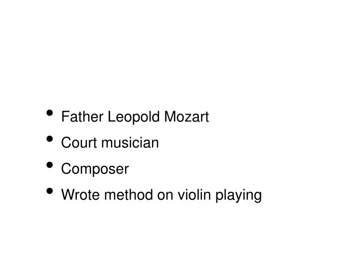Father Leopold Mozart