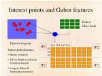 interest points and gabor features