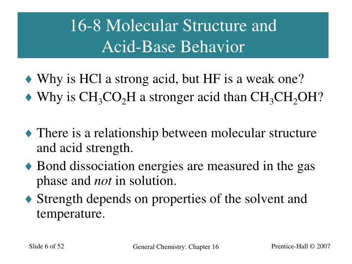 16-8 Molecular Structure and