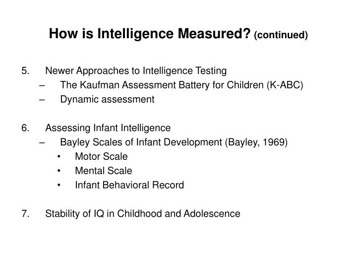 How is Intelligence Measured?