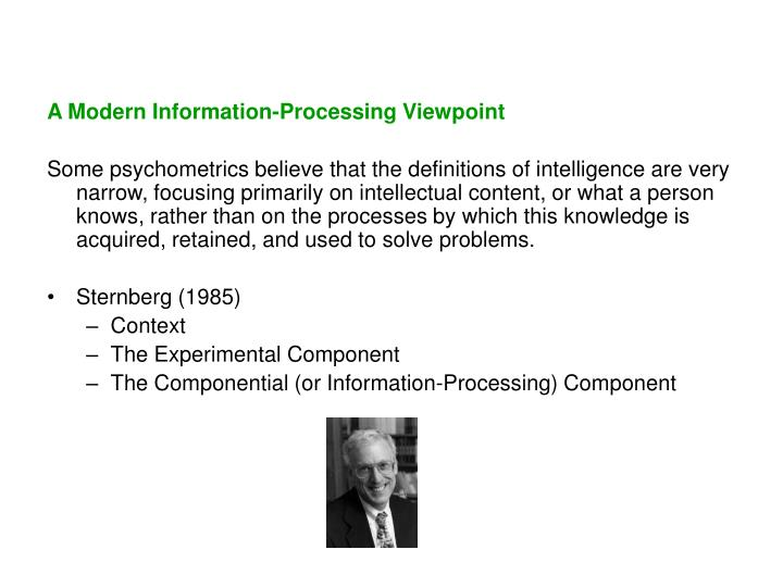 A Modern Information-Processing Viewpoint