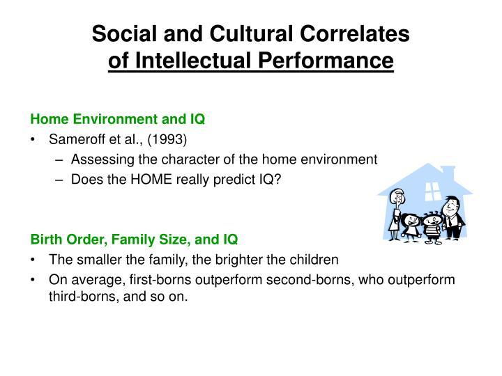 Social and Cultural Correlates