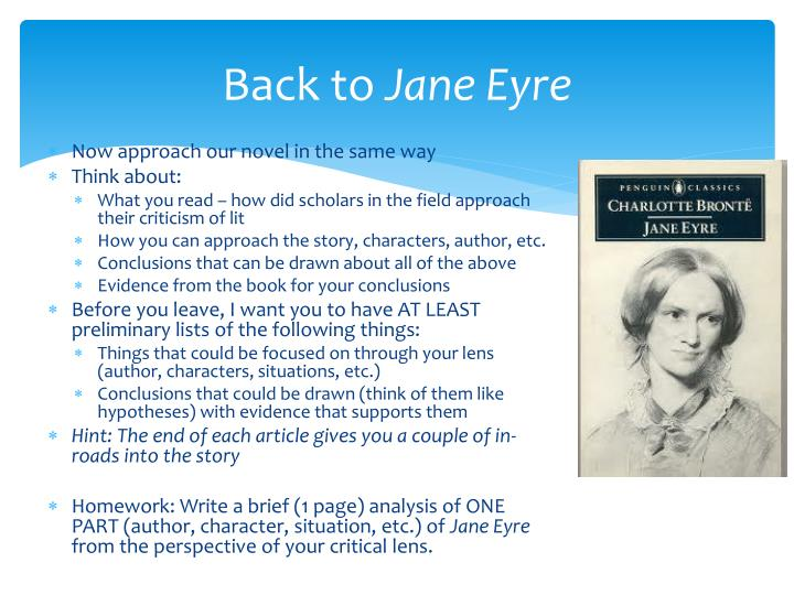 Back to jane eyre
