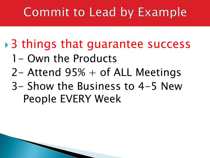 Commit to Lead by Example