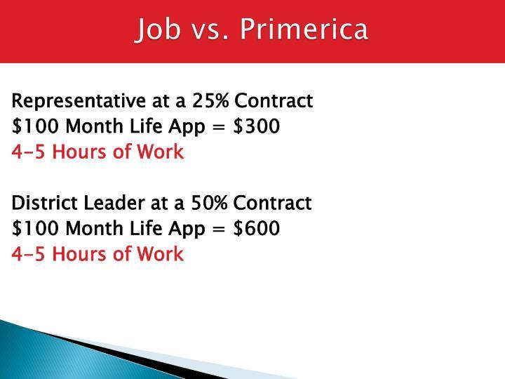 Job vs. Primerica