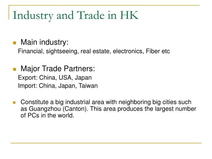 Industry and Trade in HK