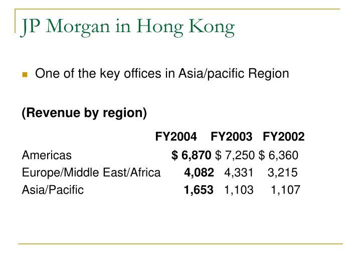 JP Morgan in Hong Kong