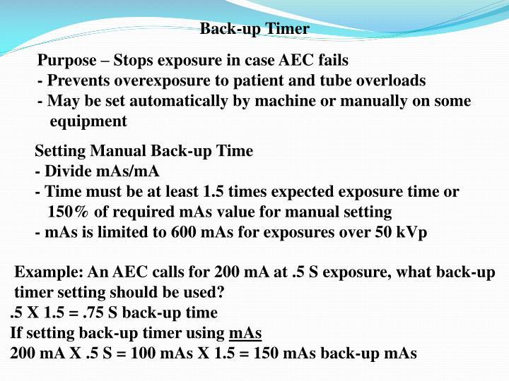 Back-up Timer