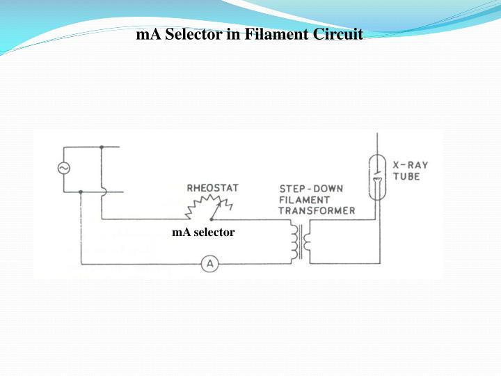 mA Selector in Filament Circuit