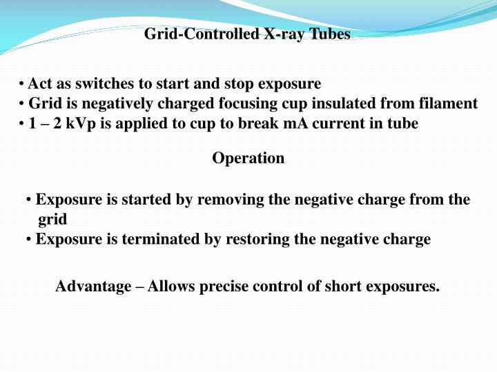 Grid-Controlled X-ray Tubes
