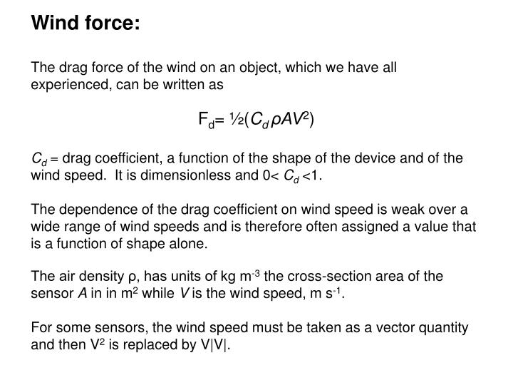 Wind force: