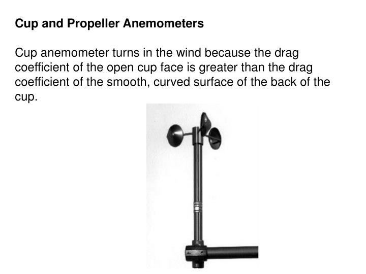 Cup and Propeller Anemometers