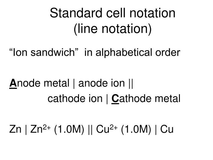 Standard cell notation