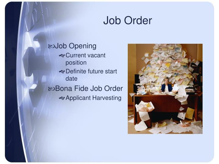 Job Order