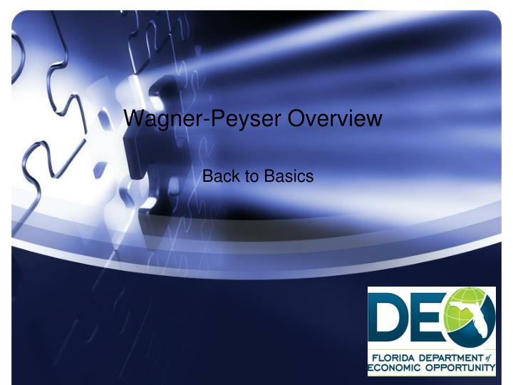 wagner peyser overview