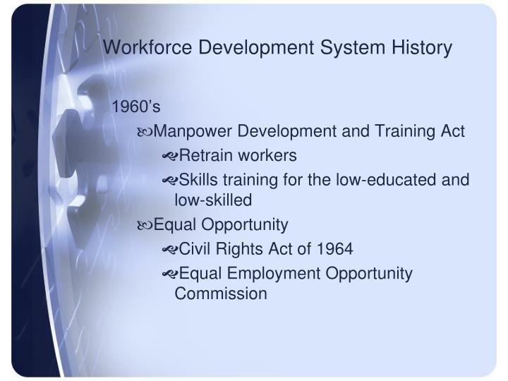 Workforce Development System History
