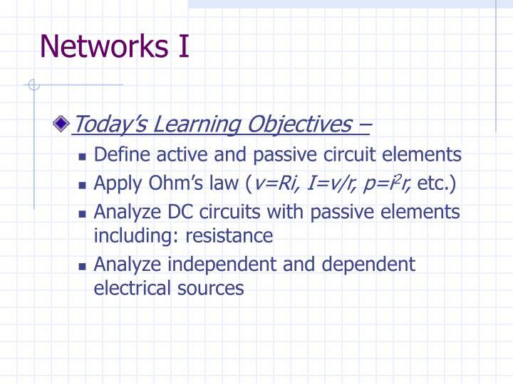 Networks I