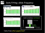 data fitting allele frequency