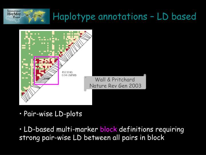 LD-based multi-marker