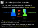 modeling joint allele structure