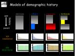 models of demographic history