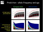 prediction allele frequency and age