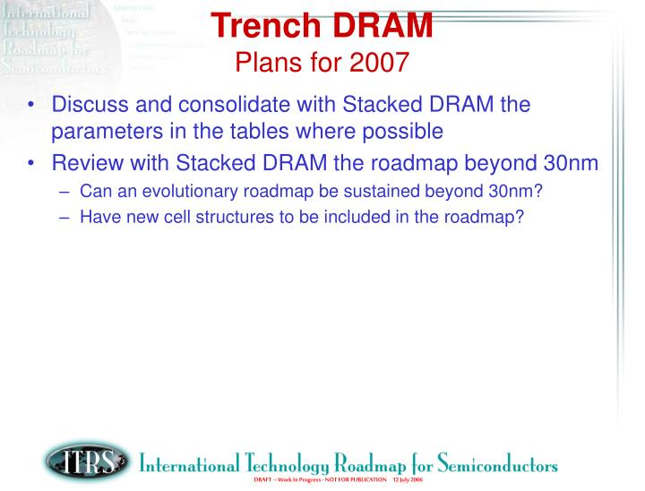 Trench DRAM