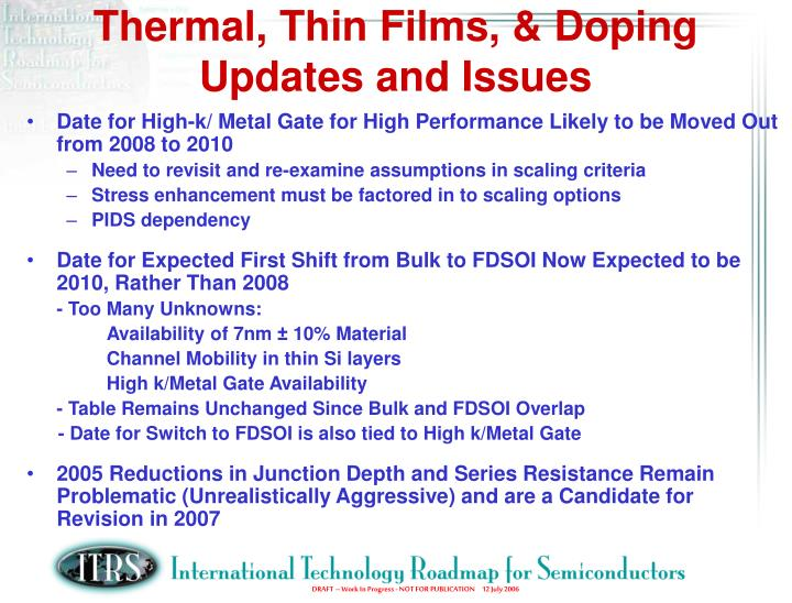 Thermal, Thin Films, & Doping