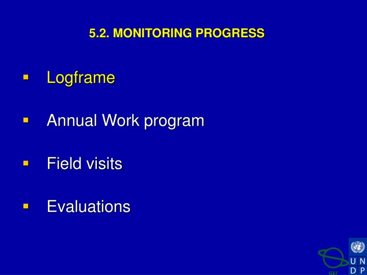 5.2. MONITORING PROGRESS
