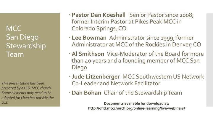 Pastor Dan Koeshall