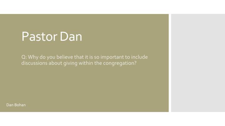 Pastor Dan