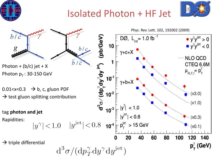 Isolated Photon + HF Jet