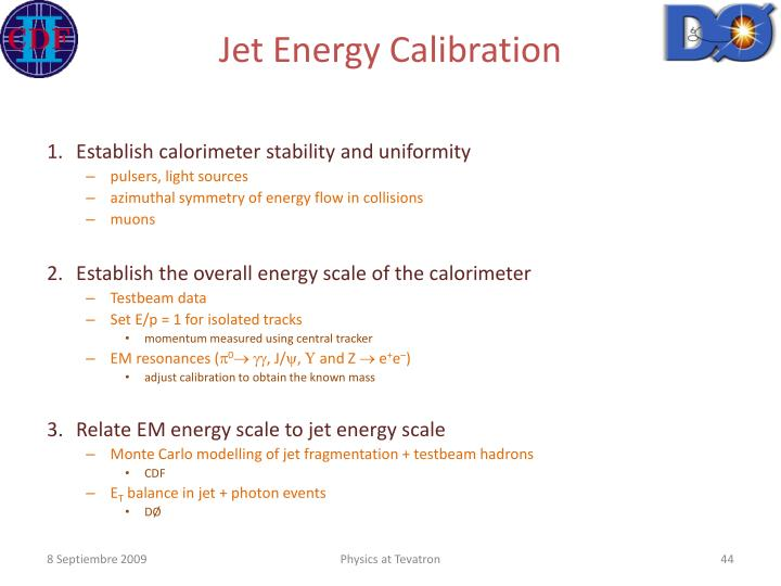 Jet Energy Calibration