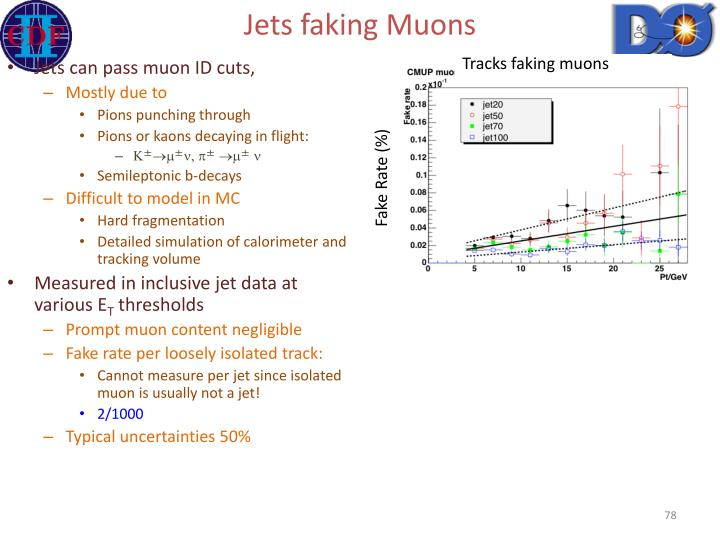 Jets faking Muons
