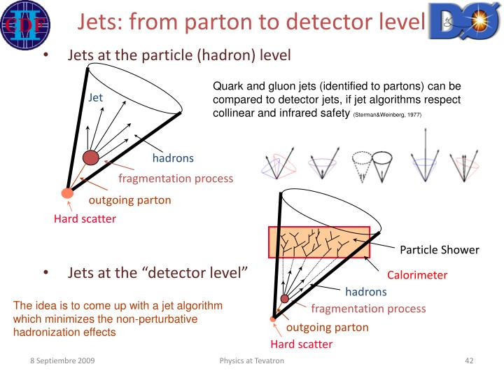 Jets: from parton to detector level