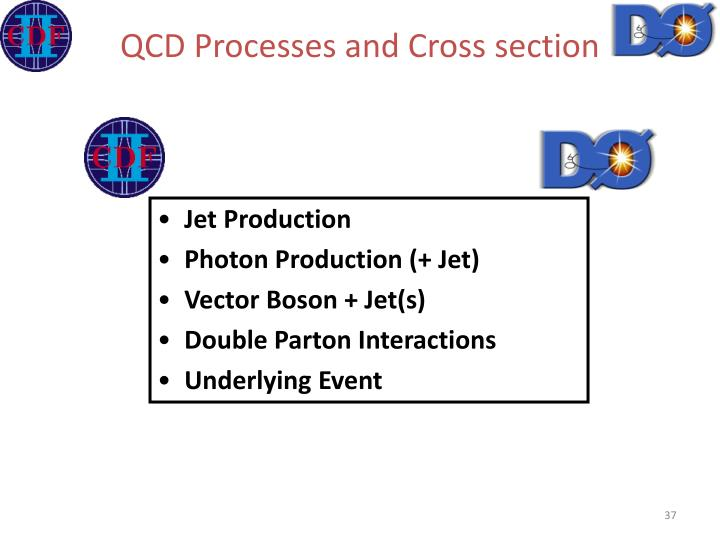QCD Processes and Cross section