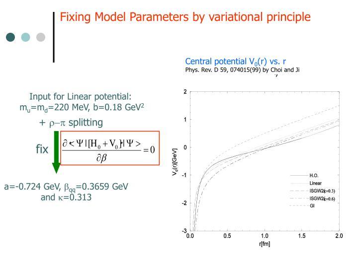 Central potential V